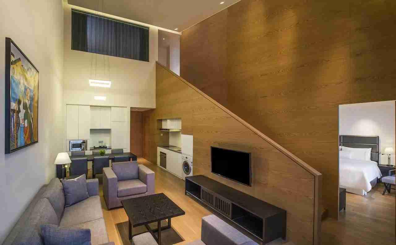 A 3 bedroom duplex suite at the Westin Xi