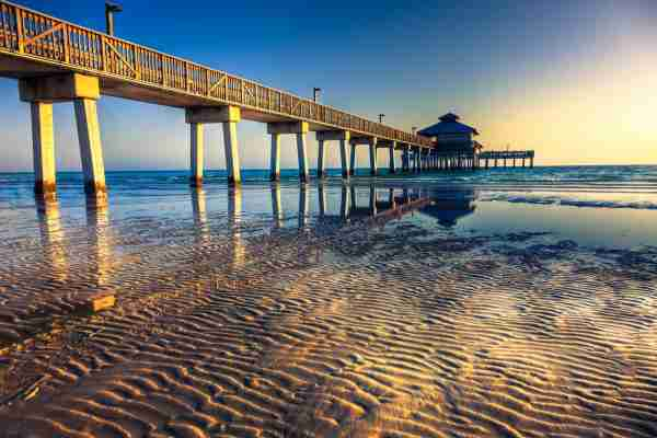 Fort Myers Beach pier, Florida. (Photo by lightkey / Getty Images)