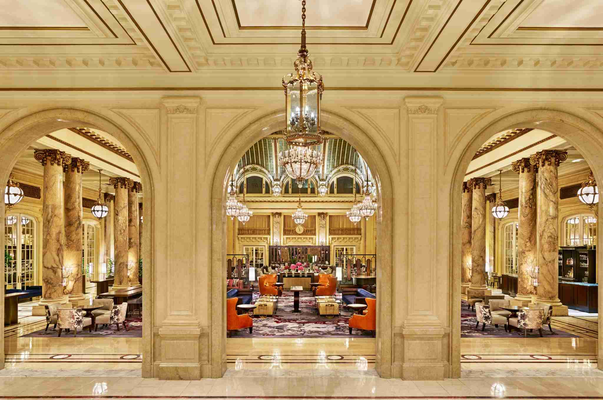 The impressive Garden Court at the Palace Hotel in San Francisco. (photo courtesy of the hotel)