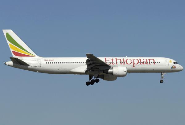 An Ethiopian Airlines Boeing 757-200. (Image by Aldo Bidini / via wikimedia)