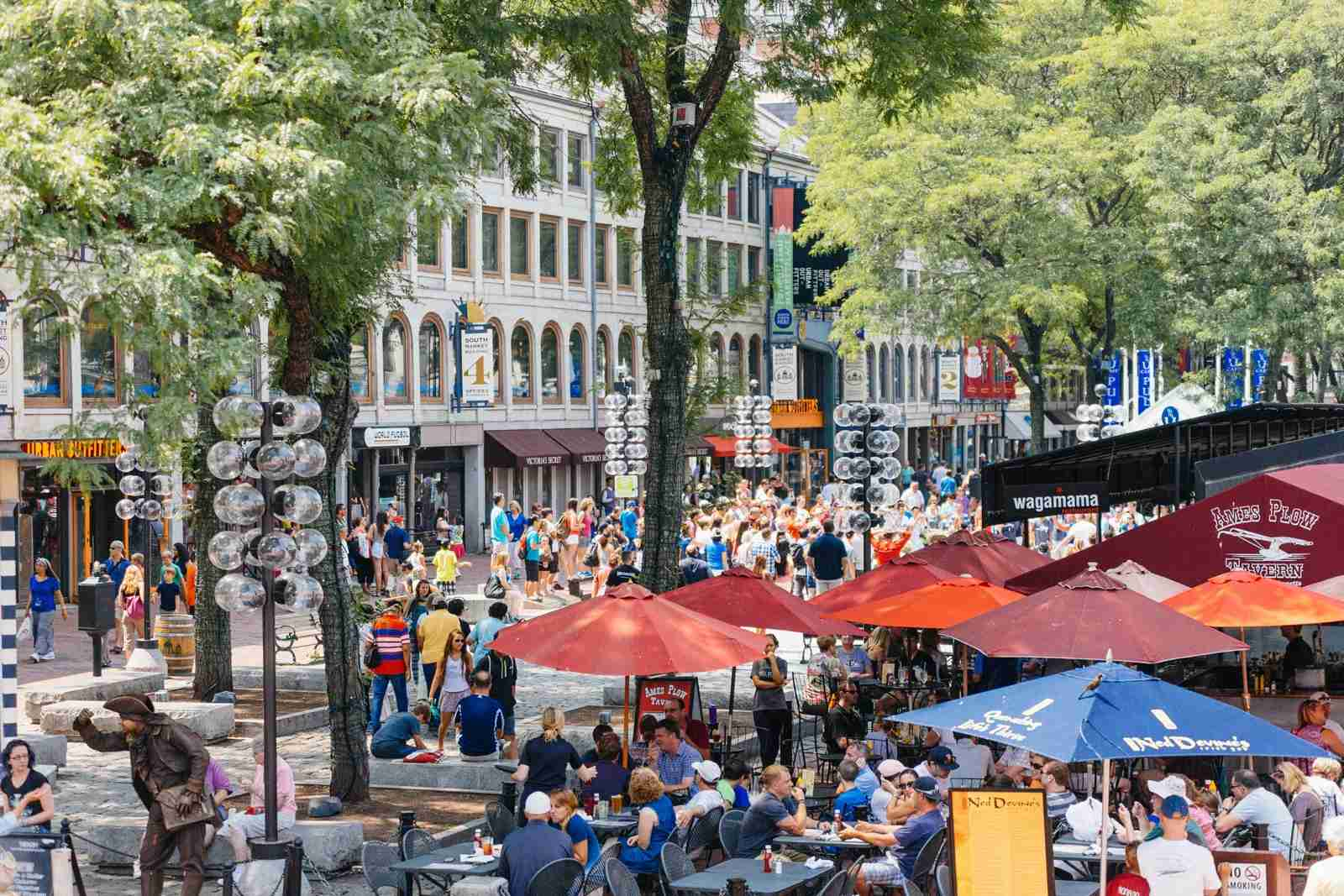 The Faneuil Hall Marketplace. (Photo by Instants / Getty Images)