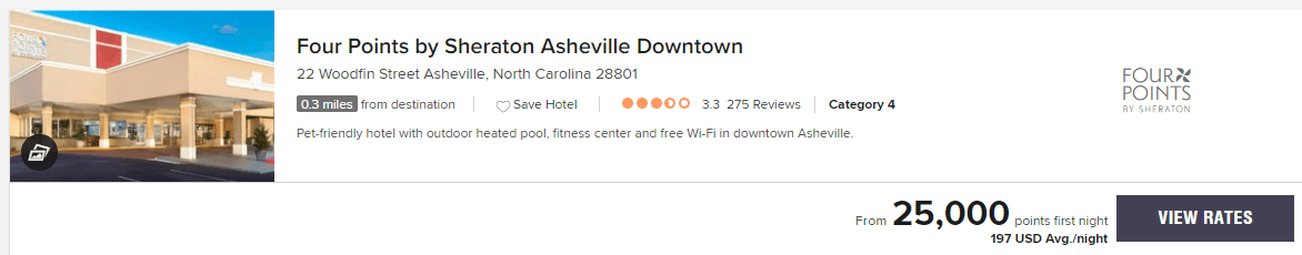 Four Points by Sheraton Asheville Downtown December 2019 prices
