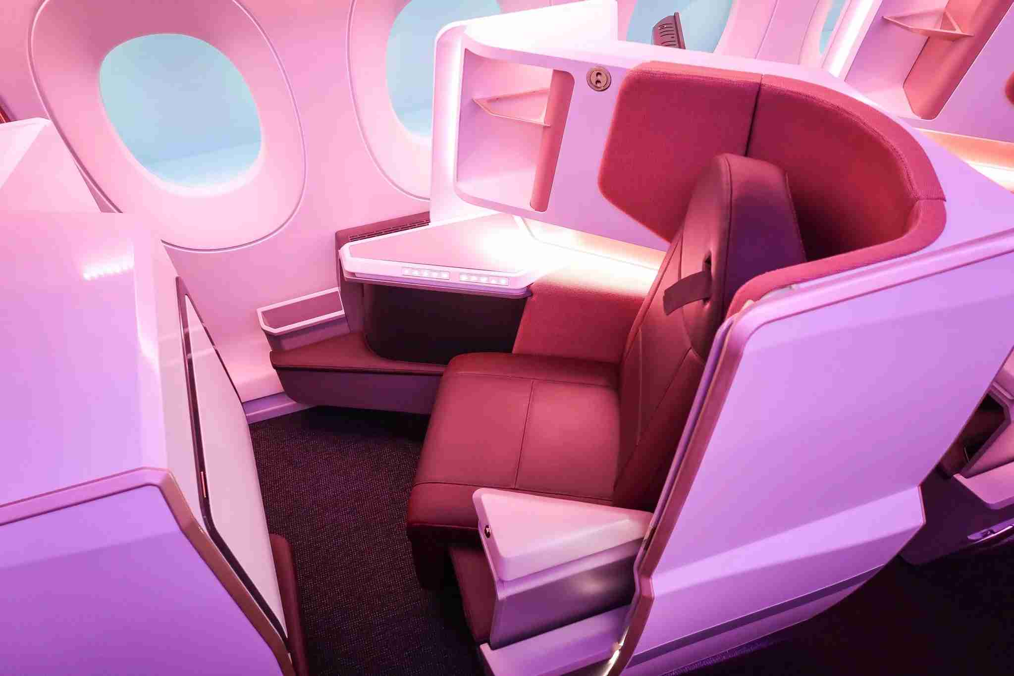Virgin Atlantic new Upper Class Suite as featured on the Airbus A350-1000 (Image by Nicky Kelvin / The Points Guy)