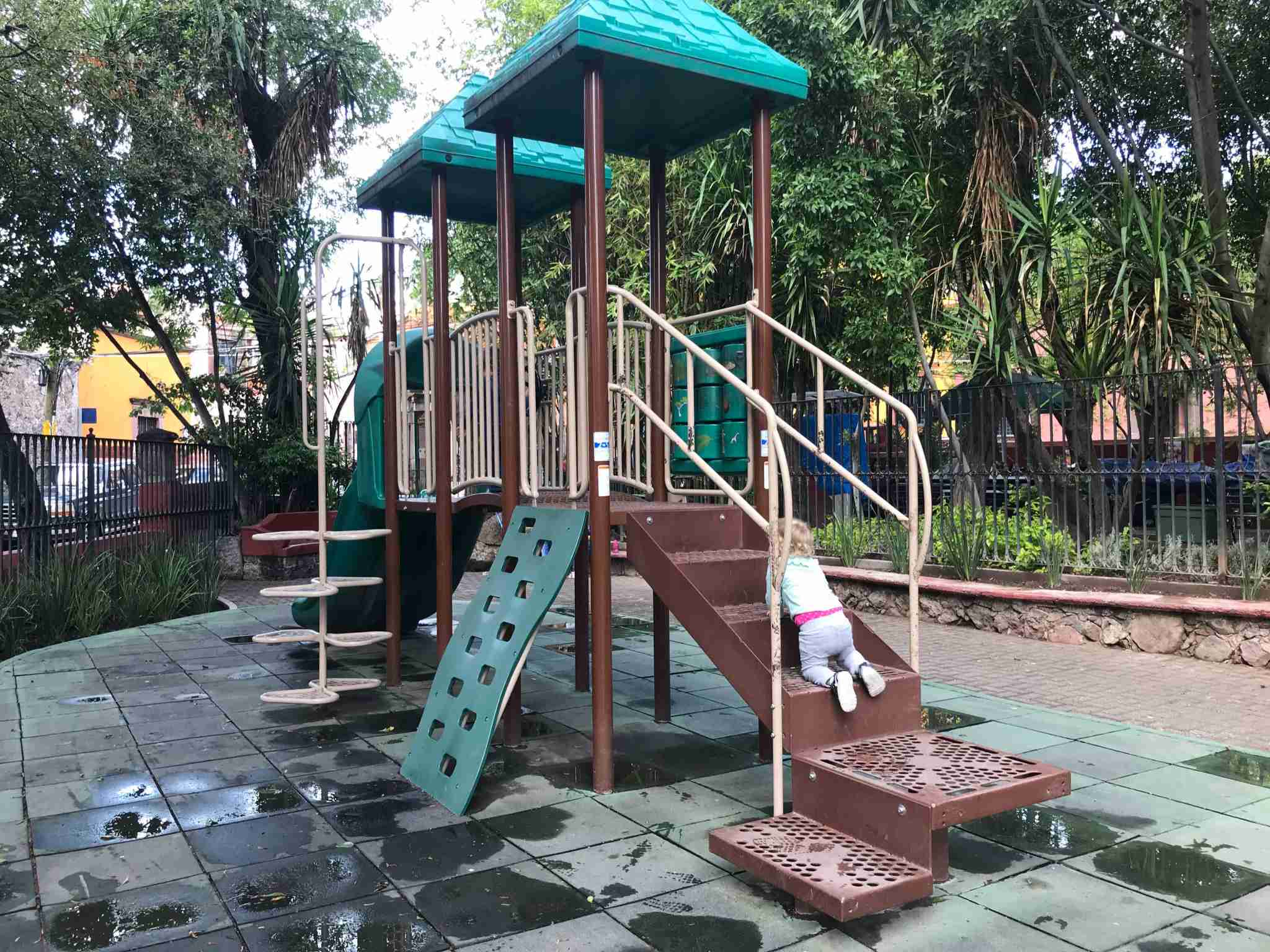 The playground at Parque Benito Juarez is a great place to bring the kids to burn off some energy (Terry-Ward.com)