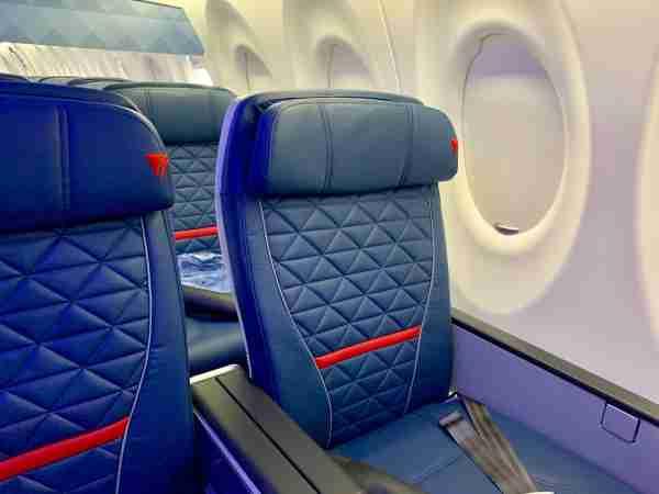 Delta A220 first class, photo courtesy of Darren Murph