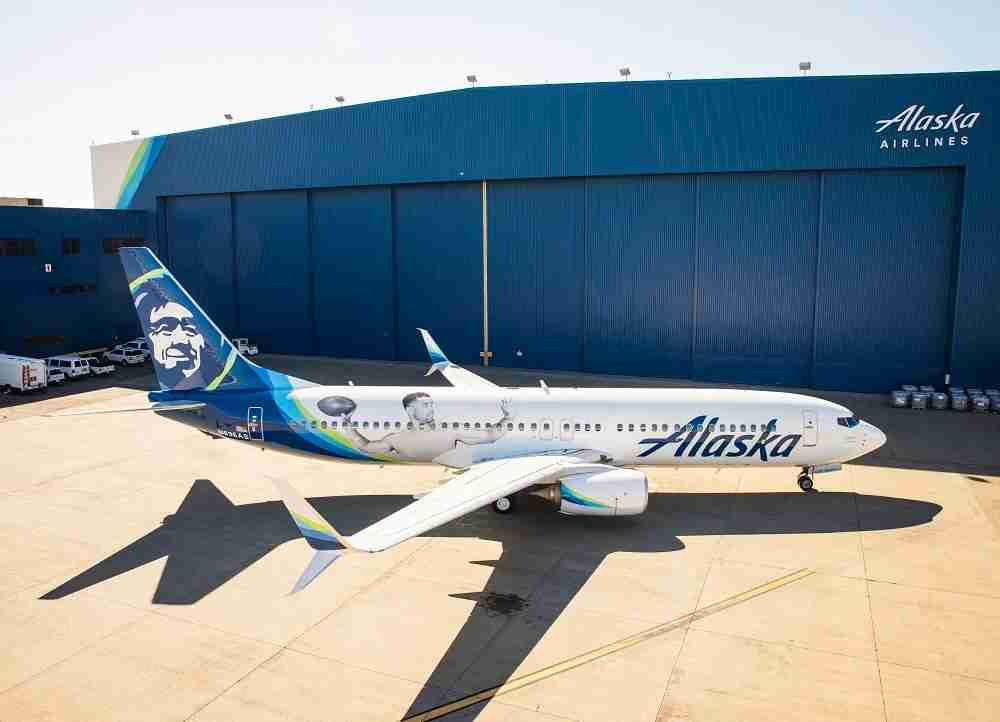 Alaska Airlines Russel Wilson livery. (Image courtesy of Alaska Airlines)