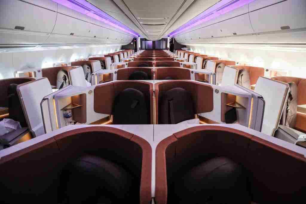 You can transfer Membership Rewards to Virgin Atlantic for an Upper Class Suite on this A350. (Photo by Nicky Kelvin / The Points Guy)