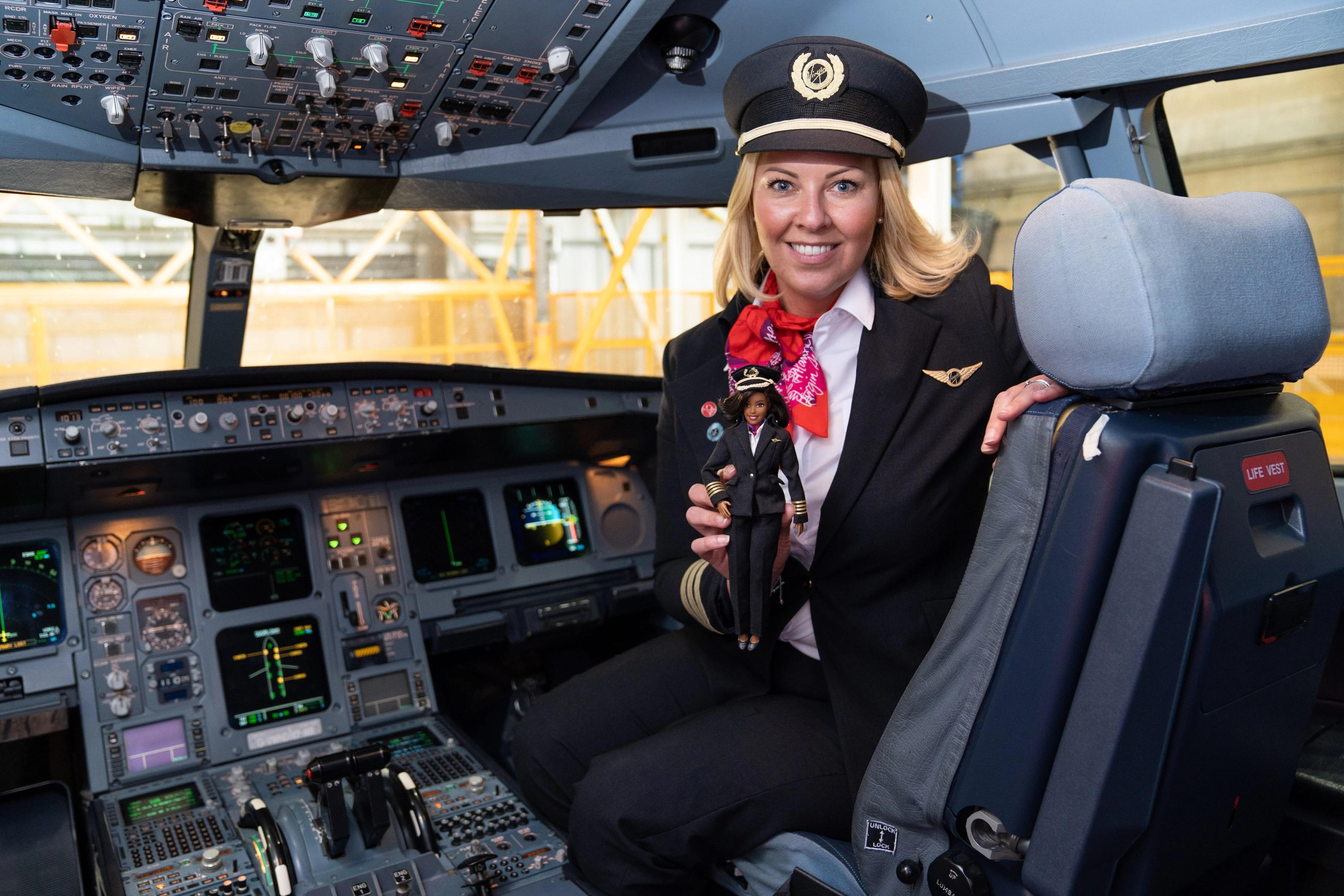 Barbie earns her captain's stripes on Virgin Atlantic