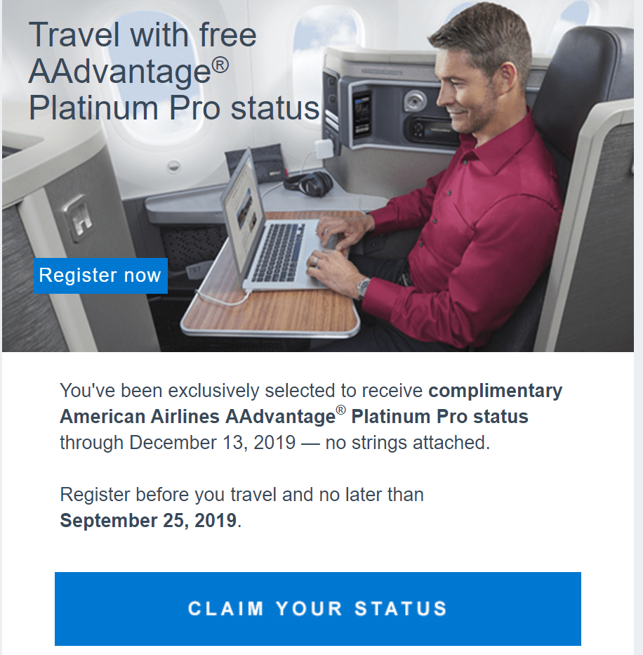 Check To See If You Re Targeted For Free Aa Elite Status