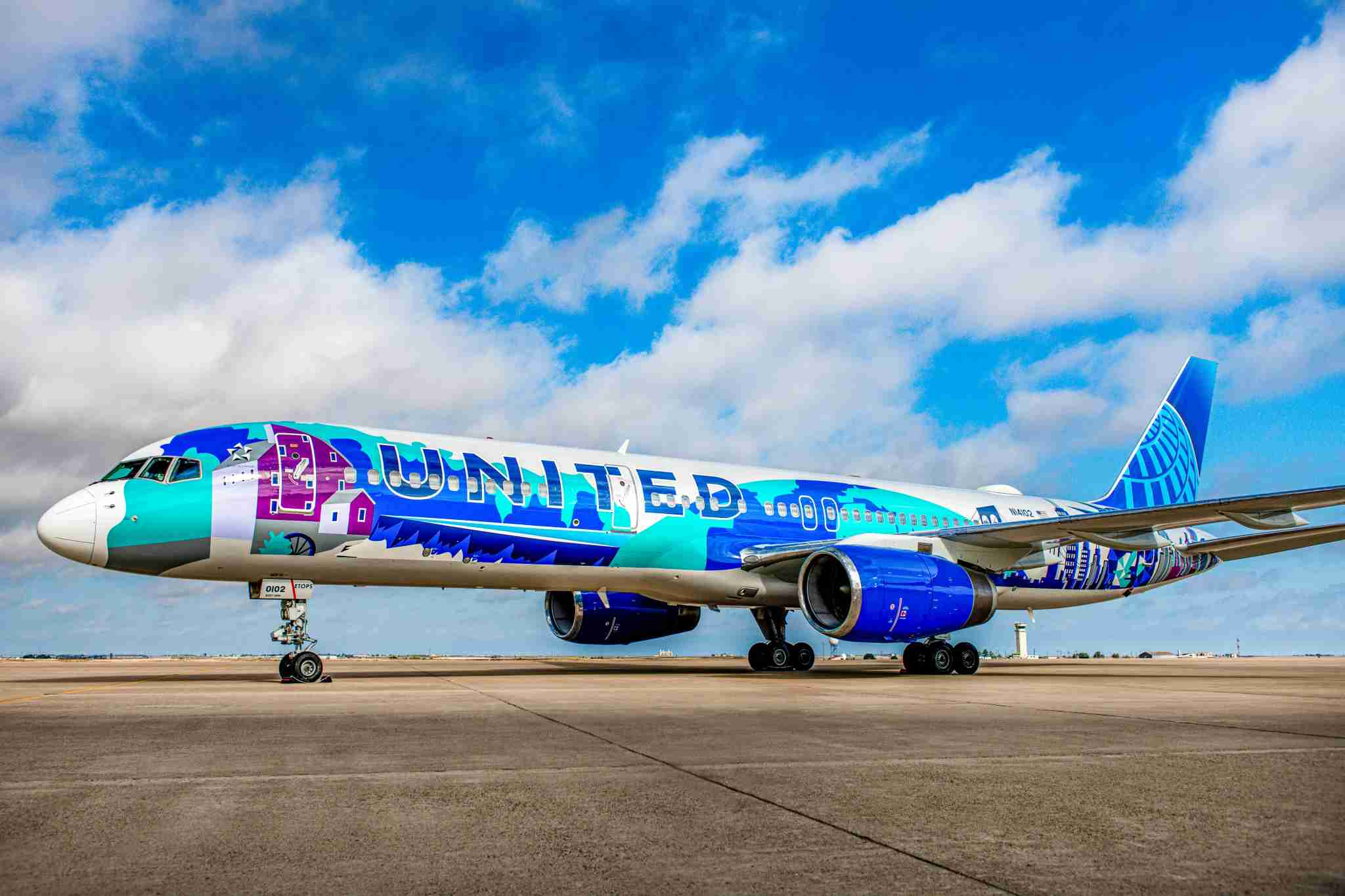 United Airlines added this special livery to one of its Boeing 757s as part of its