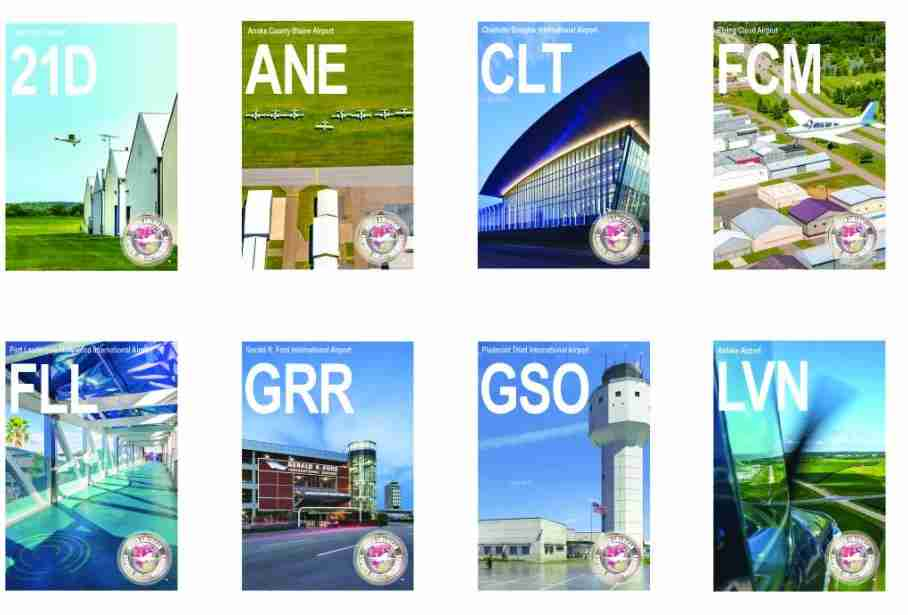 A selection of 2019 trading cards. Image courtesy of Airports Council International