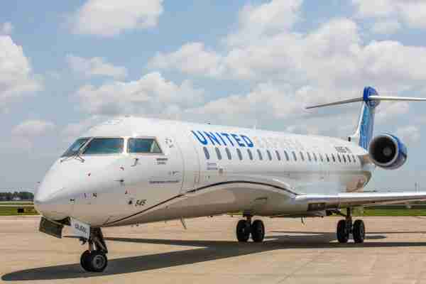 United Airlines will debut the Bombardier CRJ550 from its Chicago hub on Oct. 27. (Photo courtesy of United Airlines)