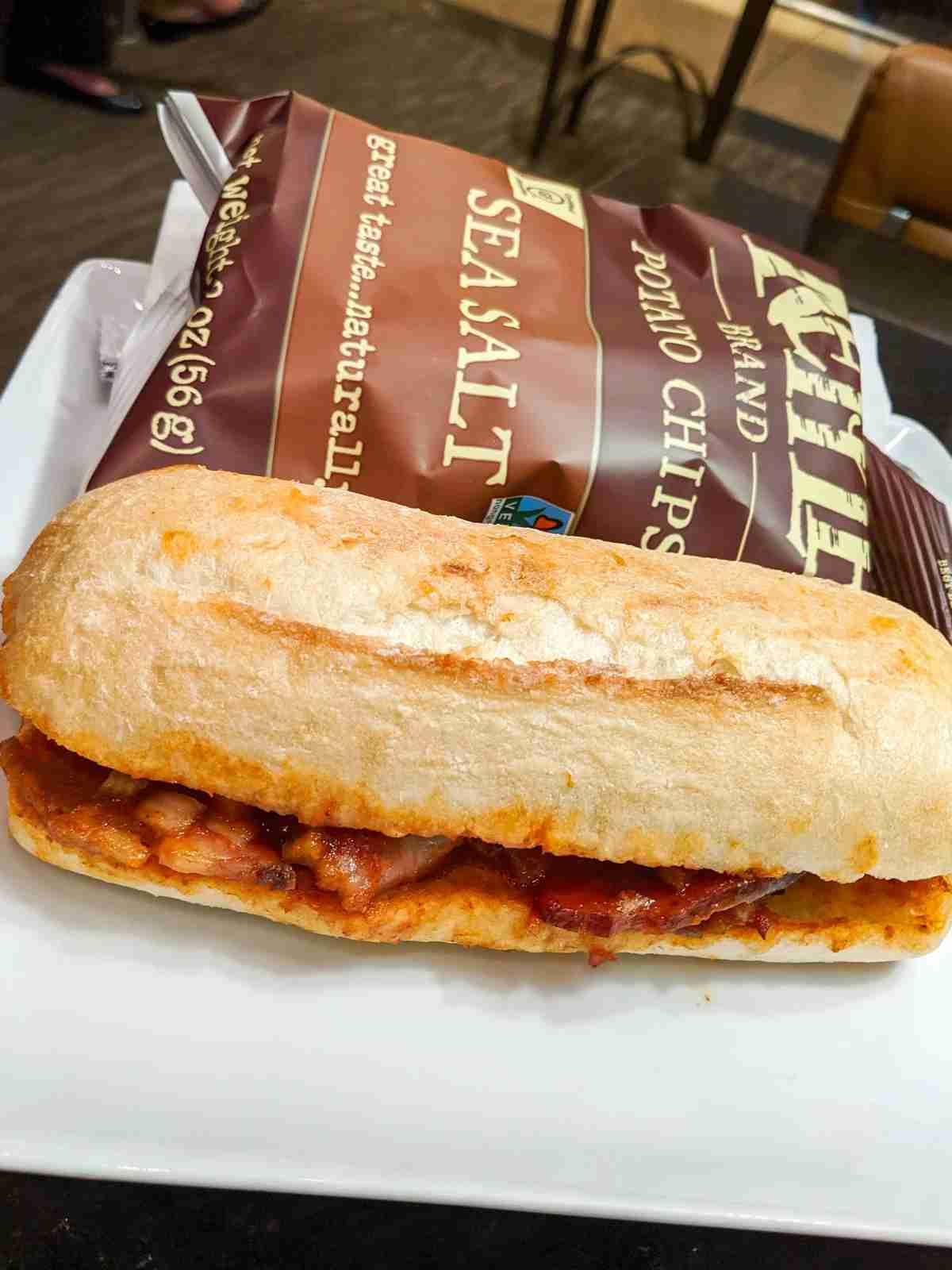 The new brisket sandwich at DFW. (Photo courtesy of Adam McGuire)