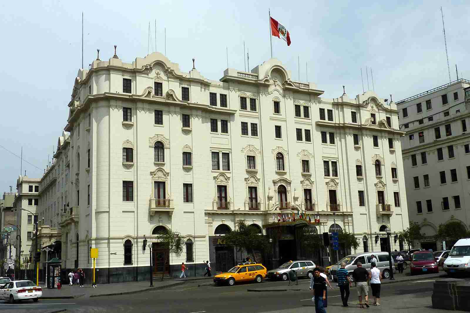 The Gran Hotel Bolivar in Lima. (Photo by Bobak Ha