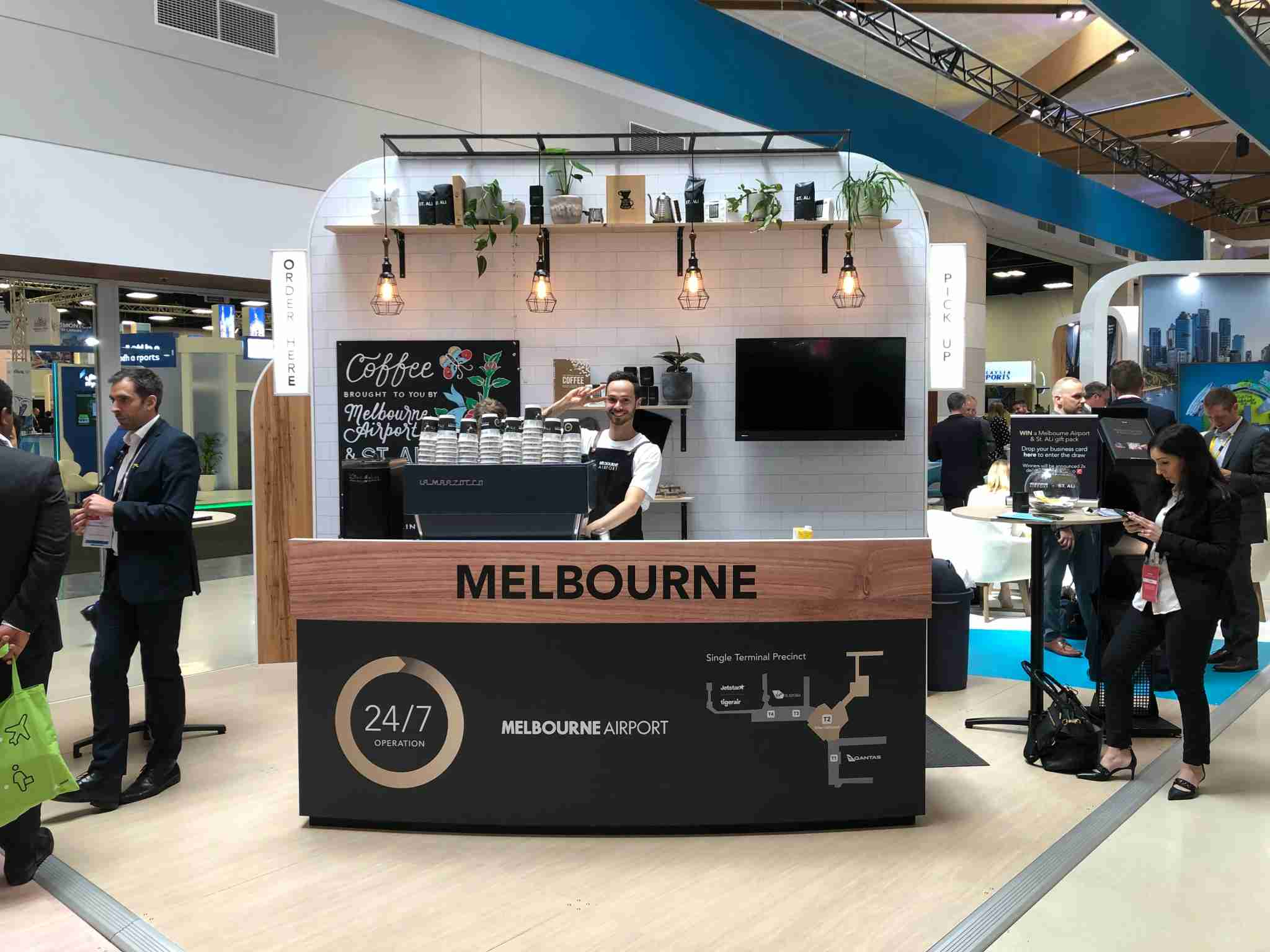 ST ALi was featured on the Melbourne Airport stand at World Routes. (Photo by Edward Russell/TPG)