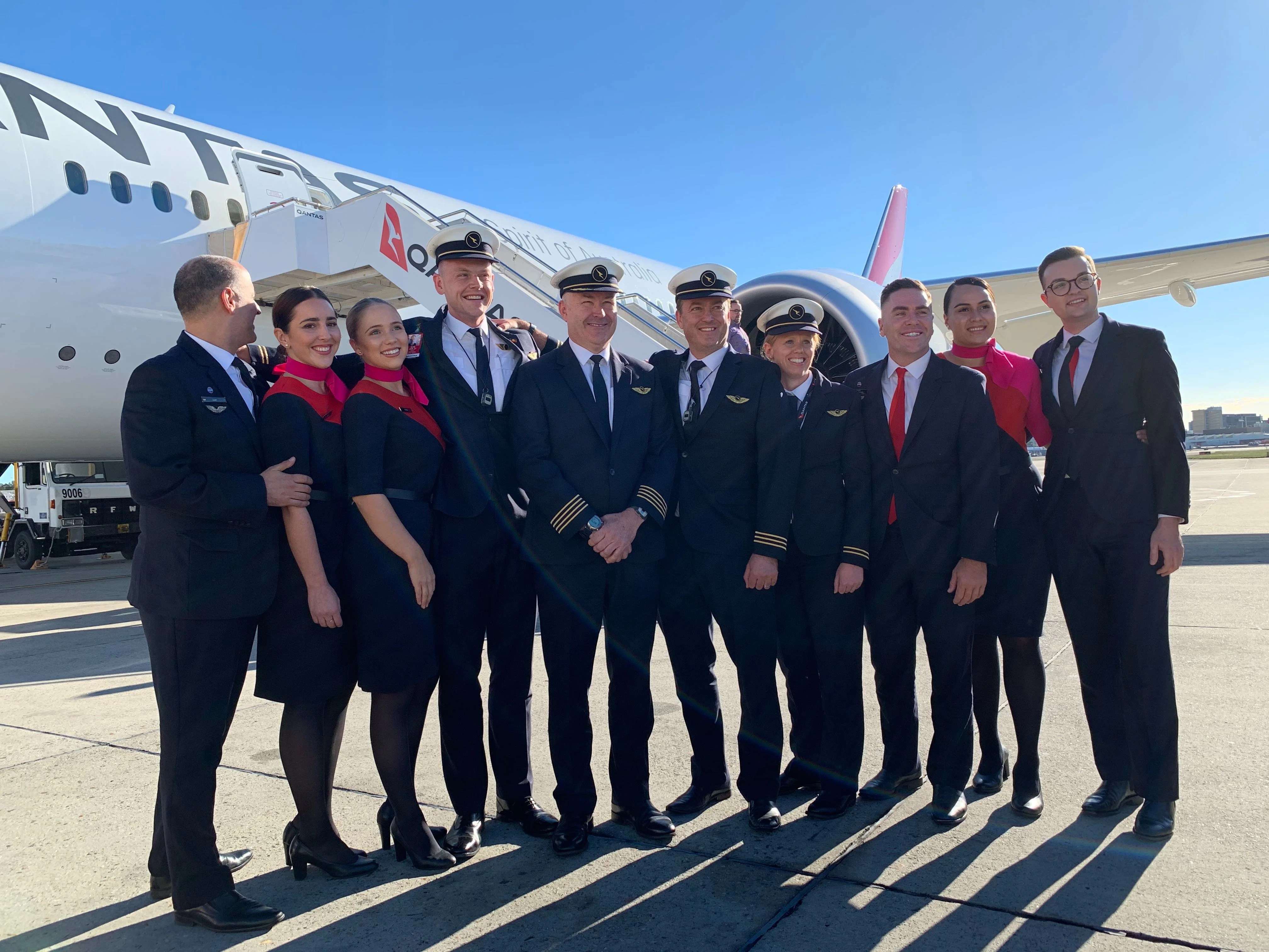 First look: Qantas Airways' historic Project Sunrise flight touches down in Sydney