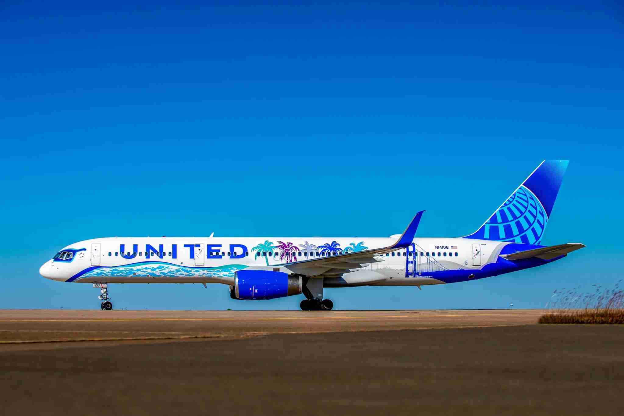 "United Airlines ""Her Art Here"" winning California livery. (Courtesy United)"