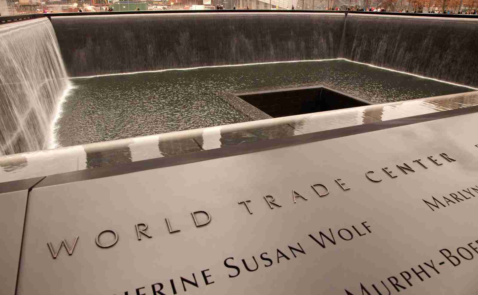 The 9/11 memorial at One World Trade Center. (Photo by Grant Faint/Getty Images)