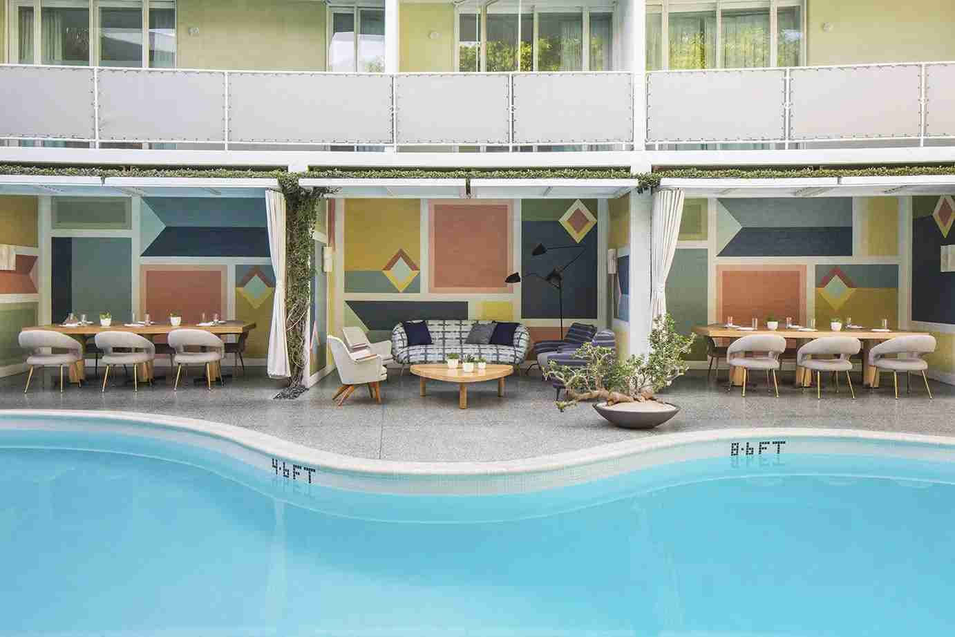 With retro design and luxe furnishings, the Avalon Beverly Hills is a stylish spot. (photo courtesy of the hotel)