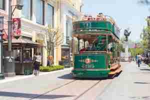 The Grove shopping center even has a historic replica of LA