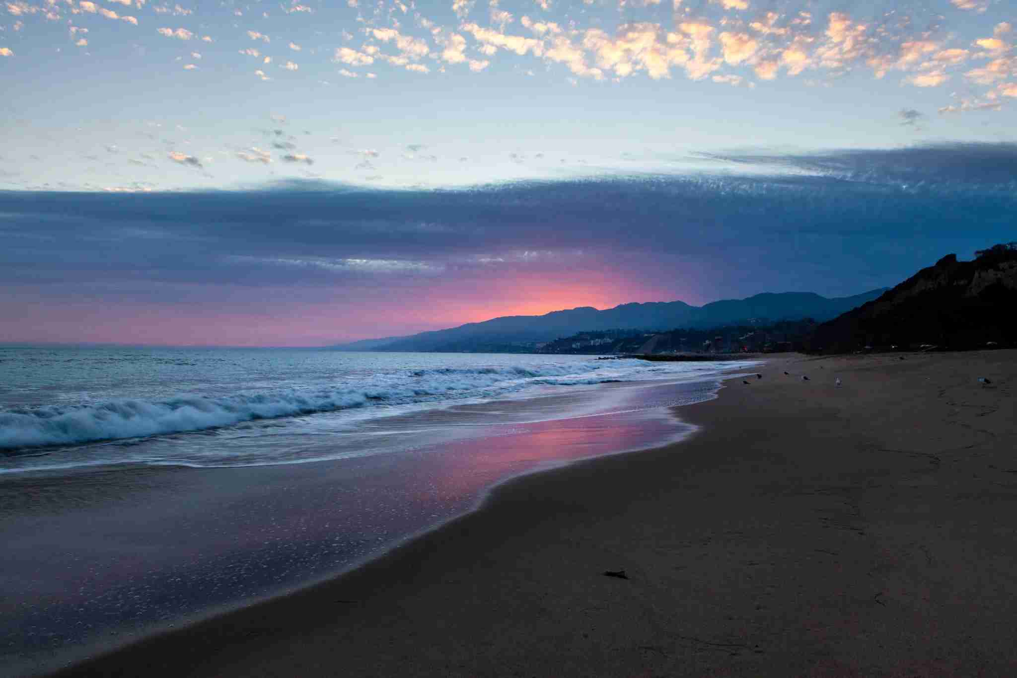 Will Rogers State Beach is beautiful at sunset. (Photo courtesy of Gary Kavanagh)