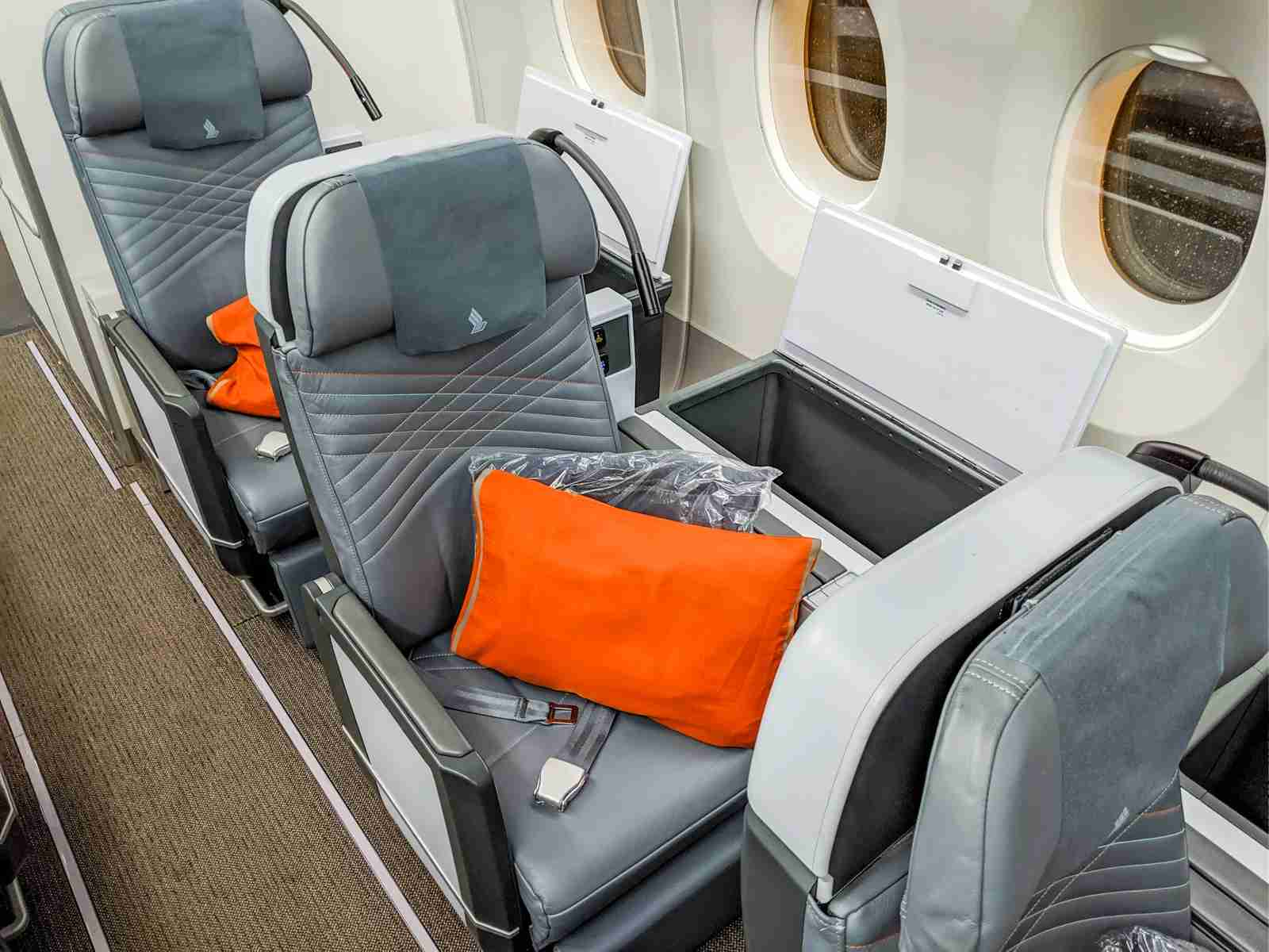 Singapore Airlines premium economy seat (Photo by Katie Genter/The Points Guy)