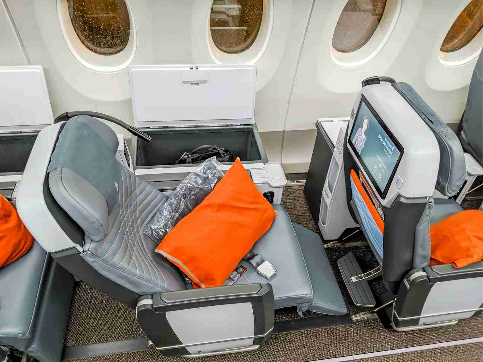 Singapore premium economy (Photo by Katie Genter/The Points Guy)
