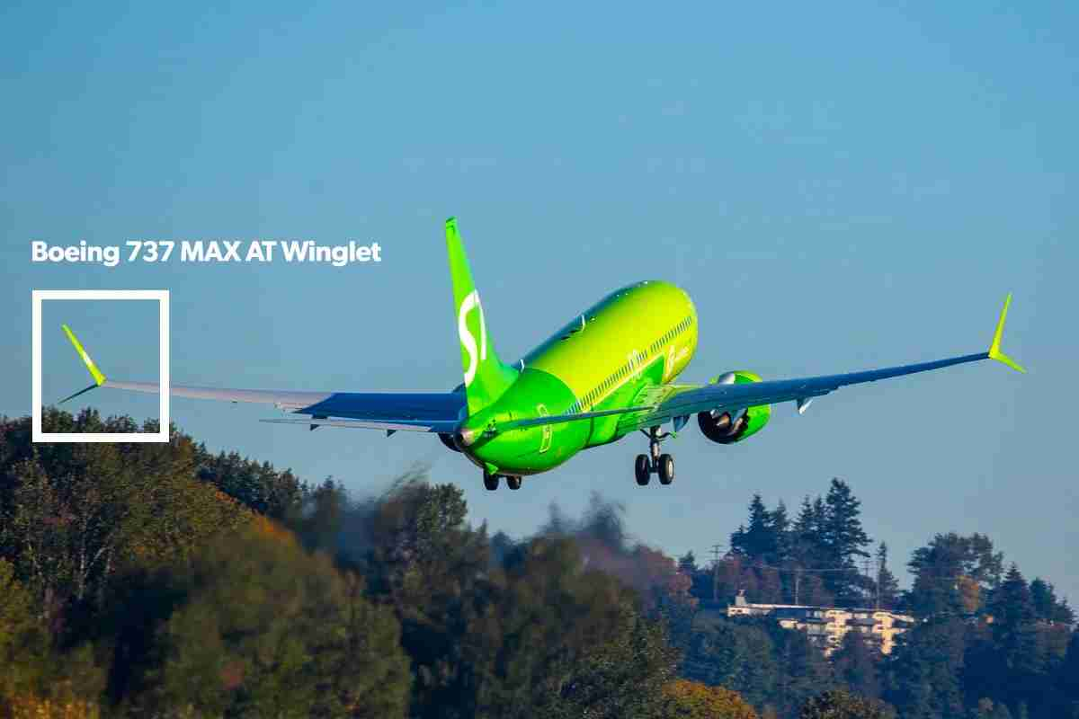The split winglet on the Boeing 737 MAX 10 aircraft. Image via Boeing.