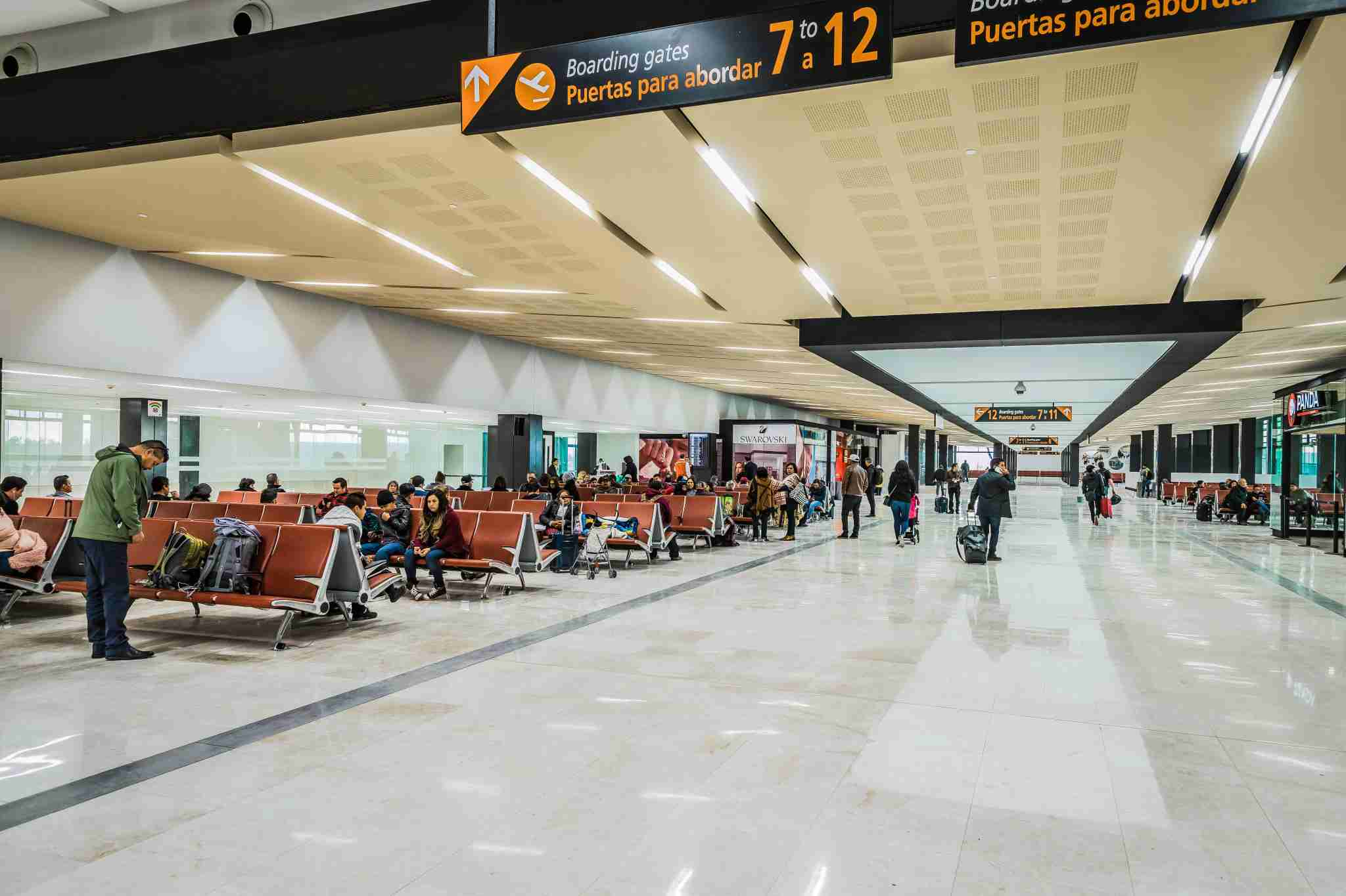 Exiting the CBX area into the Tijuana Airport, travelers walk directly into the boarding gates area. (Photo courtesy of CBX).