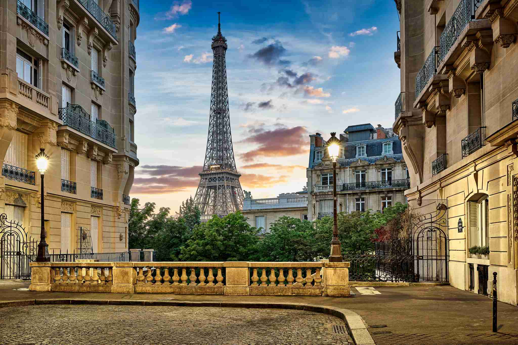 Eiffel Tower. (Photo by Harald Nachtmann/Getty Images.)