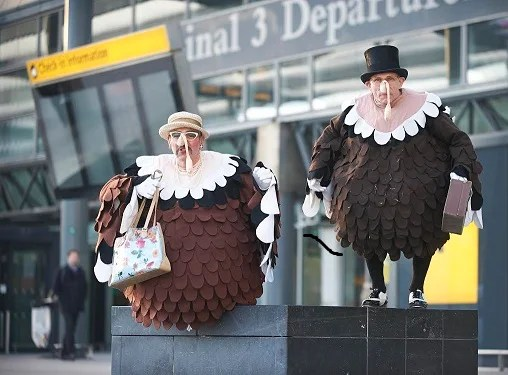 A previous Thanksgiving-themed event at London Heathrow played on the holiday's ties to turkeys. (Photo courtesy of Heathrow Airport)