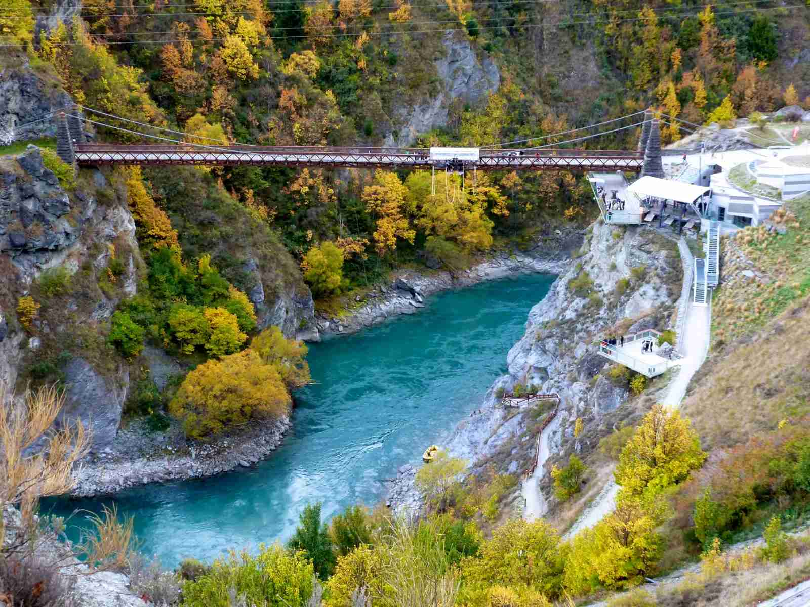 Kawarau Bungy Centre in New Zealand. (Photo by Felicia Ng/Getty Images)