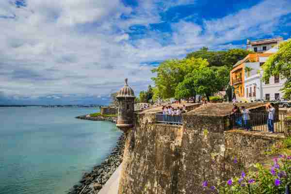 Old San Juan City Walls in Puerto Rico. (Photo by Maremagnum/Getty Images)