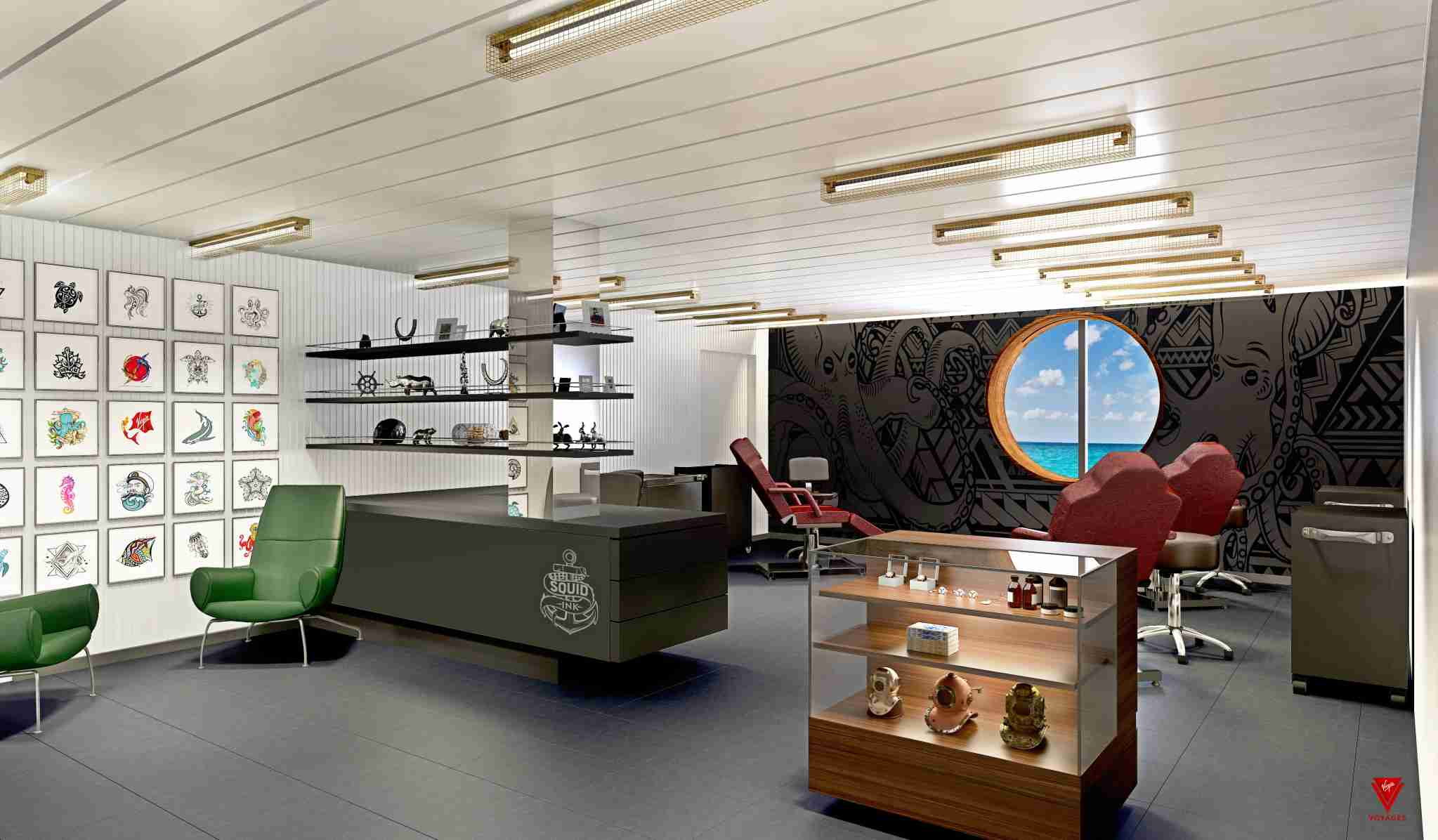 Get a tattoo during your cruise. (Image courtesy of Virgin Voyages)
