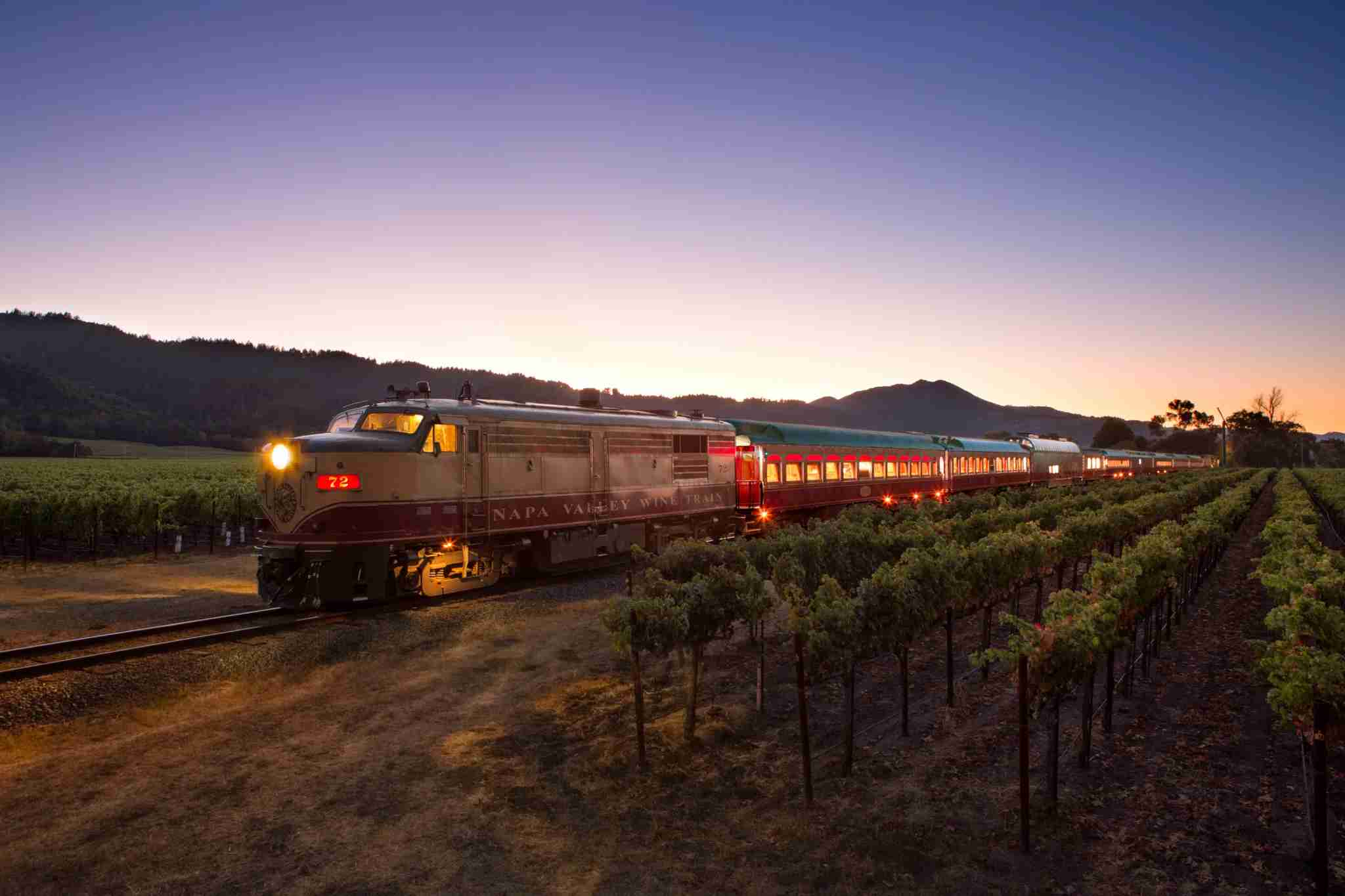 The Napa Wine Train makes it easy to taste car-free, and without a designated driver. Photo: Wine Train / Glodow-Nead