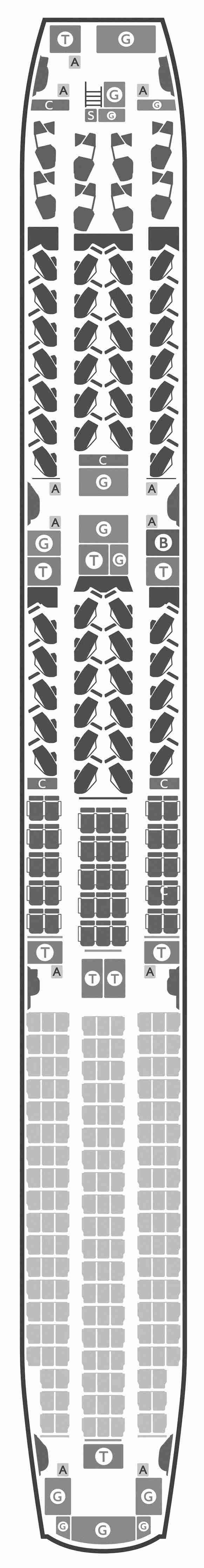 British Airways 787-10 seat map (Courtesy of British Airways)