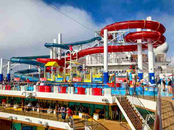 Carnival Cruise Line's Carnival Panorama has one of the line's signature WaterWorks waterparks. Photo by Gene Sloan/The Points Guy.