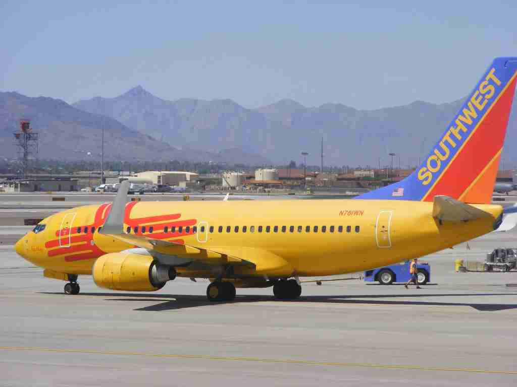 Southwest Airlines' New Mexico Boeing 737 at Phoenix Sky Harbor International Airport. (Photo by Benét J. Wilson/The Points Guy)