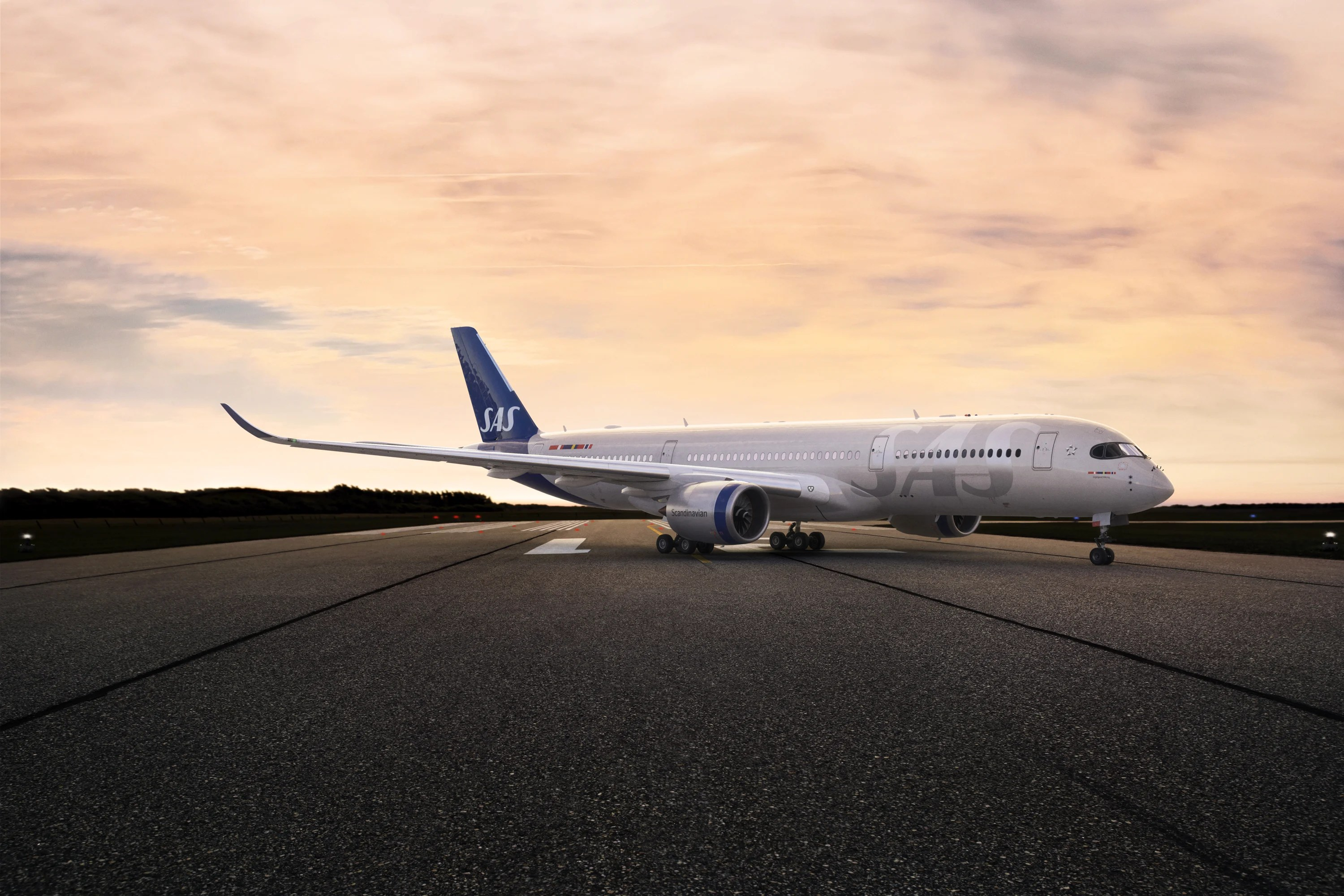 Your first look at the new SAS Airbus A350 that will serve Chicago