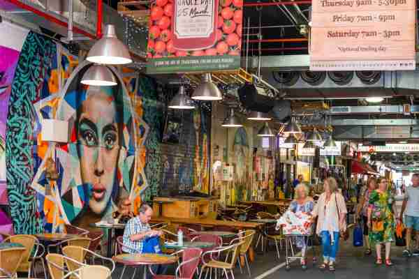 A cafe in the Central Market of Adelaide. (Photo by Education Images/Universal Images Group/Getty Images)