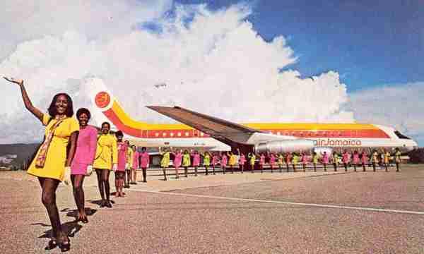 One love. An Air Jamaica DC-8 circa 1970.