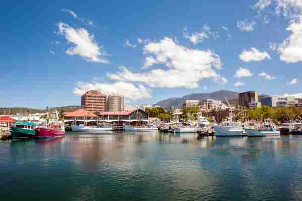The city of Hobart and Mount Wellington. (Photo by Leisa Tyler/LightRocket/Getty Images)