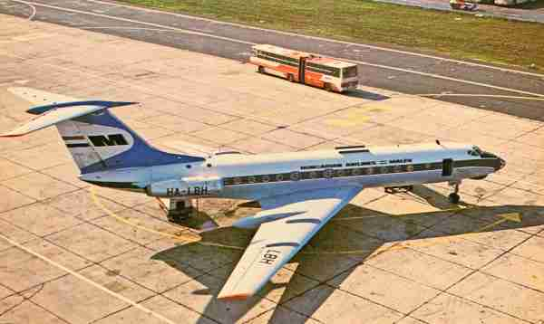 Malev's Tupolevs, like this Tu-134, were later joined by Boeings.