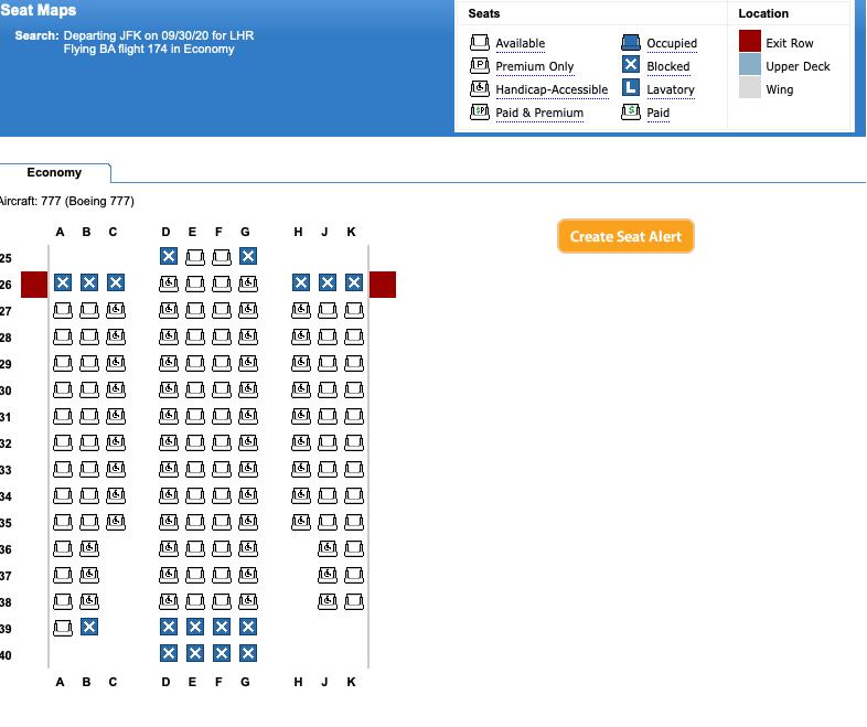 British Airways new 777-300 configuration for World Traveler (Economy). Image courtesy Expert Flyer.
