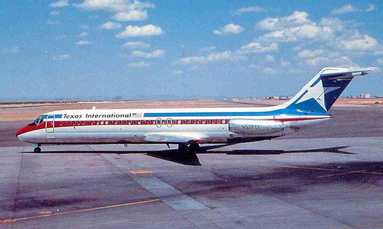 Lone Star blues. A Texas International DC-9.