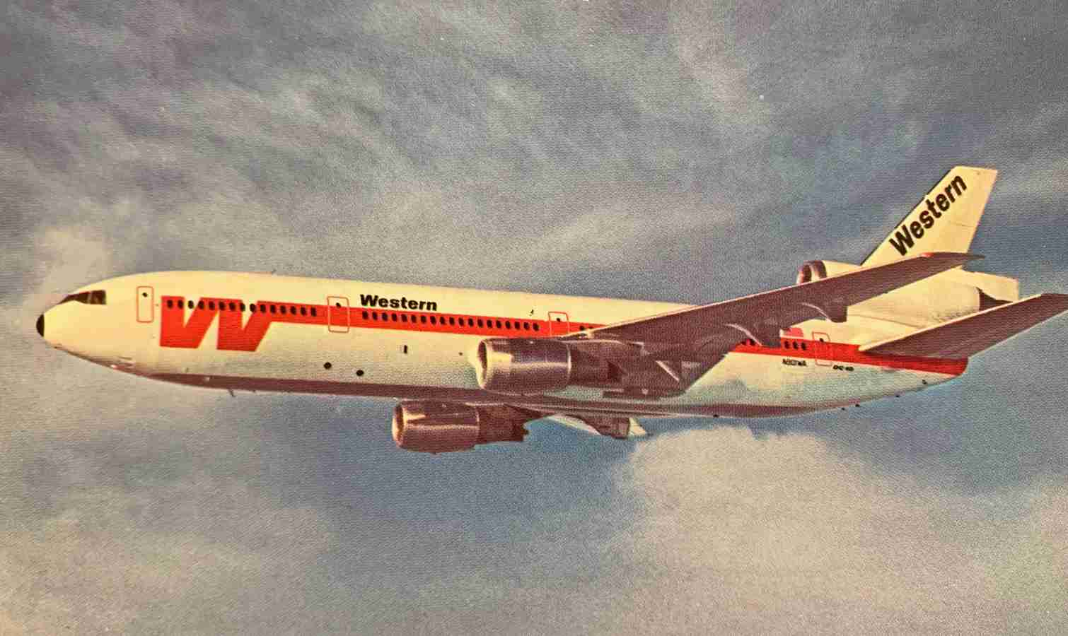 Western's jet fleet included 707s, 727s, and DC-10s like this one.