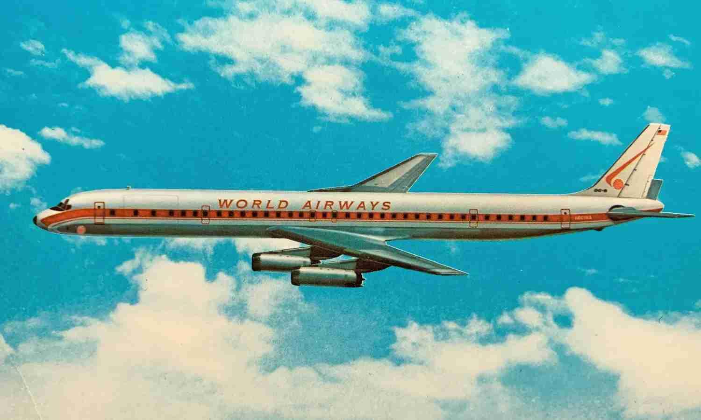 A World Airways DC-8 Series 60.