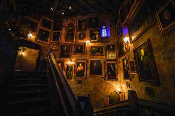 There are a lot of details to take in as you wait in line for Harry Potter and the Forbidden Journey. (Photo courtesy of Universal Orlando.)