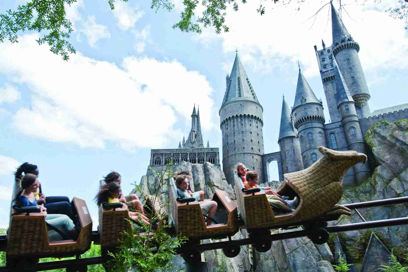 "This ""junior"" roller coaster is a hit with kids and adults. (Photo courtesy of Universal Orlando.)"