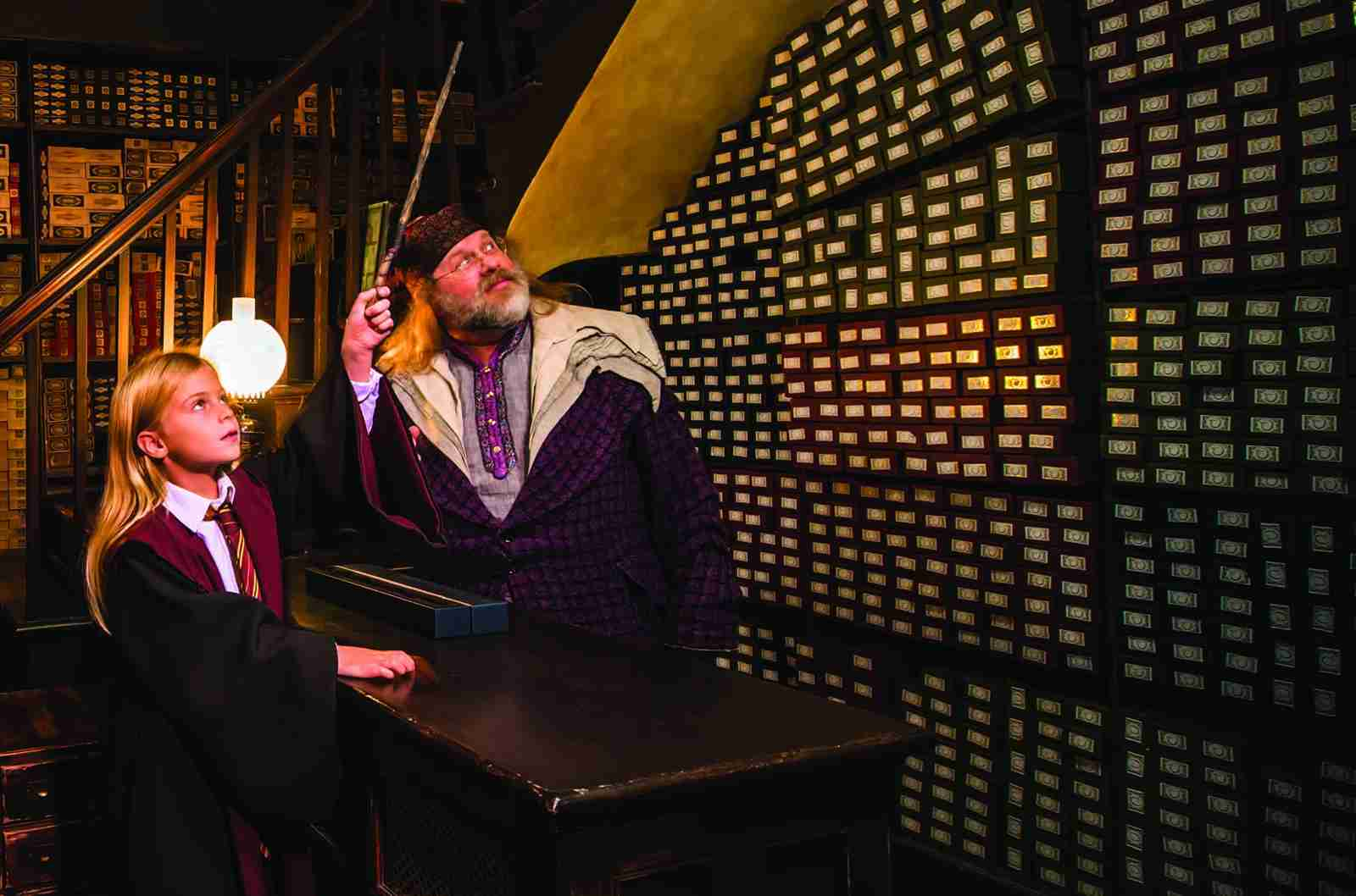 "You can see the ""wand picks the wizard"" show at Ollivanders in Hogsmeade and Diagon Alley. (Photo courtesy of Universal Orlando.)"